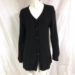 NEIMAN MARCUS Cashmere Hand Knit Cardigan Sweater